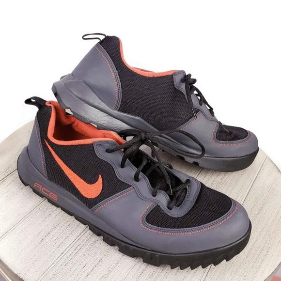 Men's Nike ACG Takos Gray Black Red Low Top Hiking
